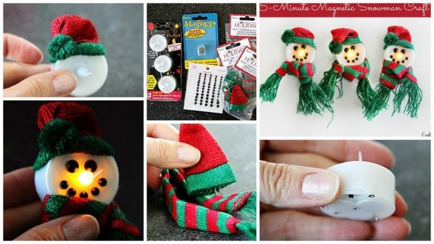 How to make magnetic light-up snowman