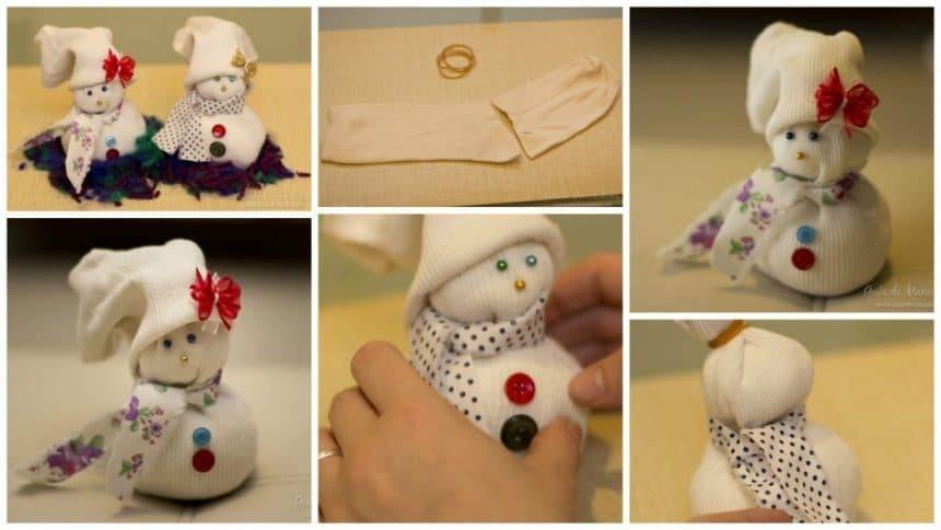 Christmas doll socks without seams