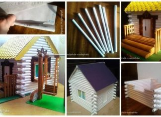 How to make house from paper tube