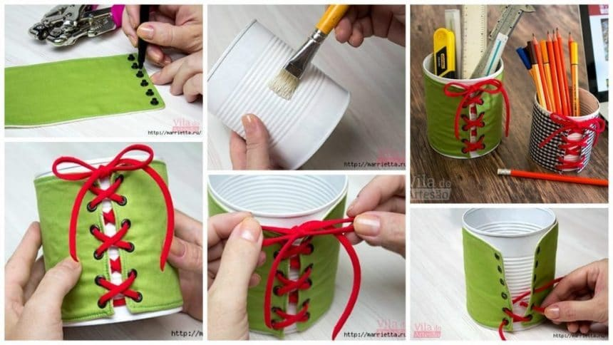 How to make the organizer of the tin