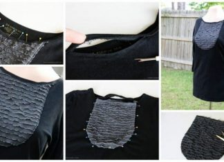 How to make T-shirt with ruffles