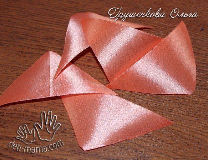 starfish from satin ribbon(143)