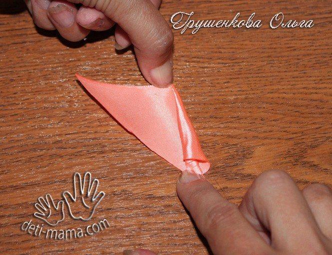 starfish from satin ribbon(145)