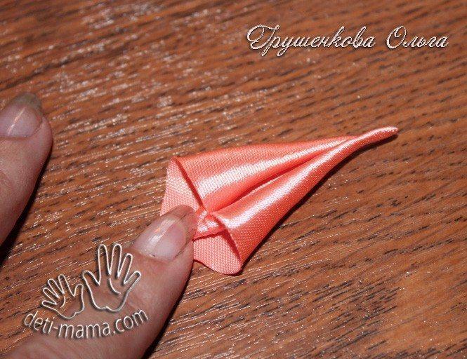 starfish from satin ribbon(146)