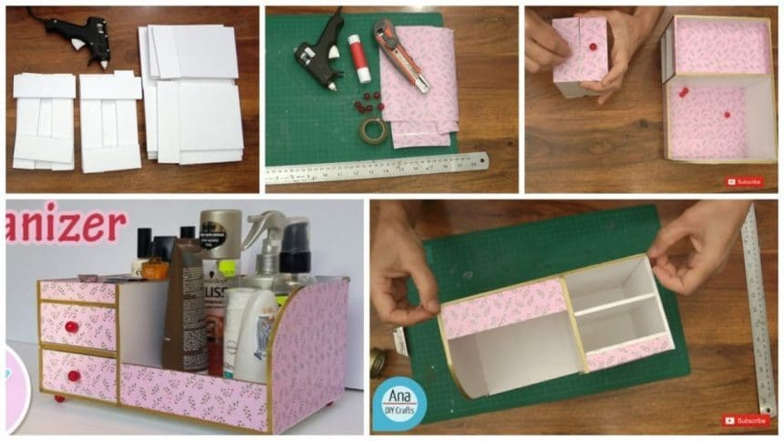 How to make bedside table organizer