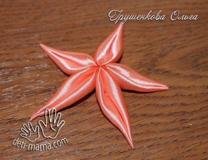 starfish from satin ribbon(150)