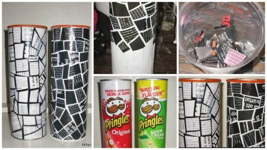 How to make vase from magazines