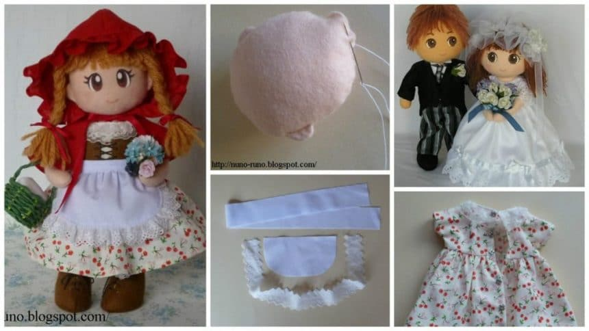 How to make simple felt doll