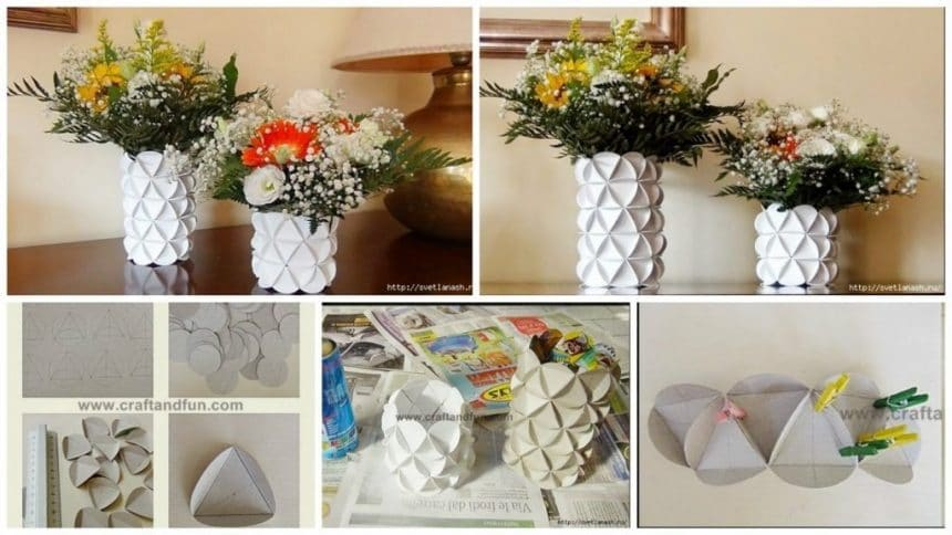 How to make paper vase