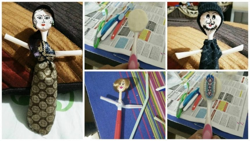 How to convert old toothbrushes into cute dolls