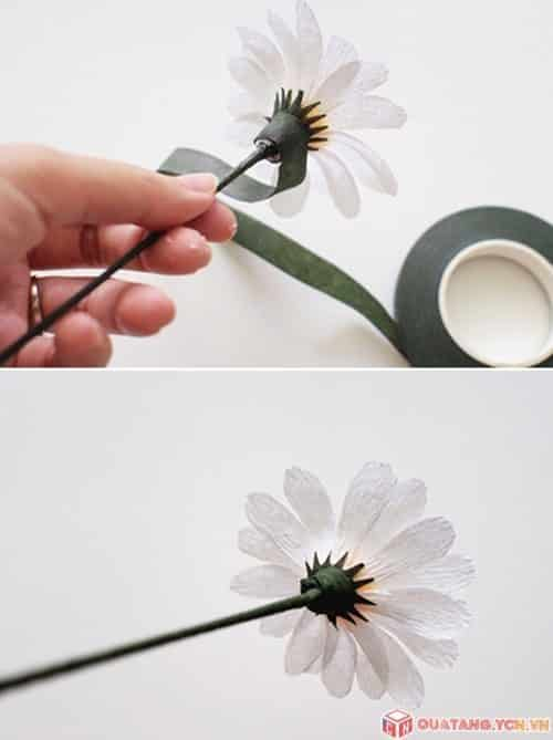 How to make paper daisy flower simple craft ideas you can plug in a vase of daisies paper or paper flower truss lovely to donate teachers offline mightylinksfo