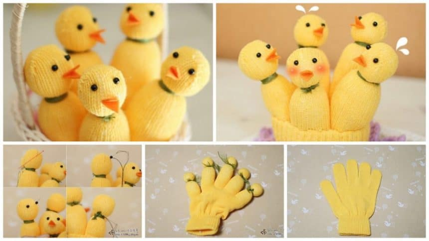 How to make chickens from gloves