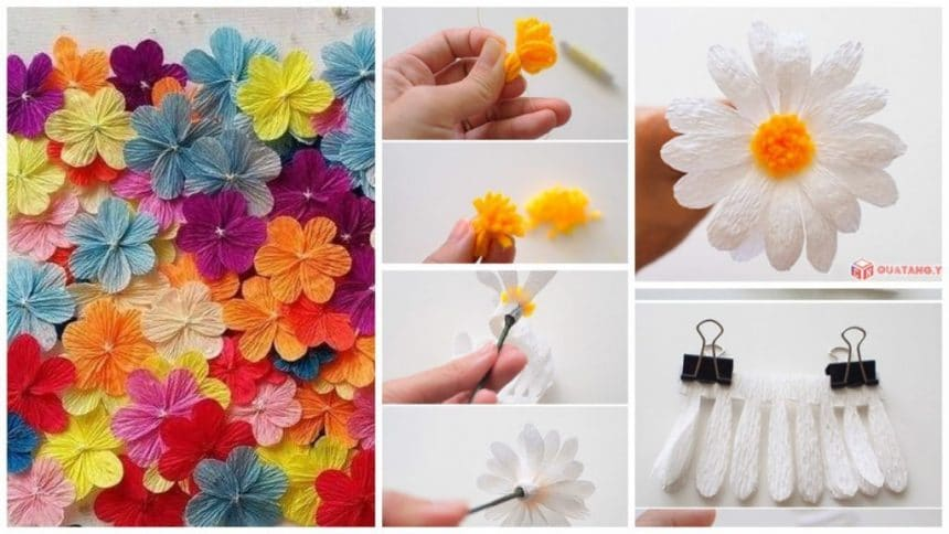 How to make paper daisy flower simple craft ideas how to make paper daisy flower mightylinksfo