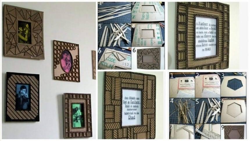 Designer cardboard photo frames
