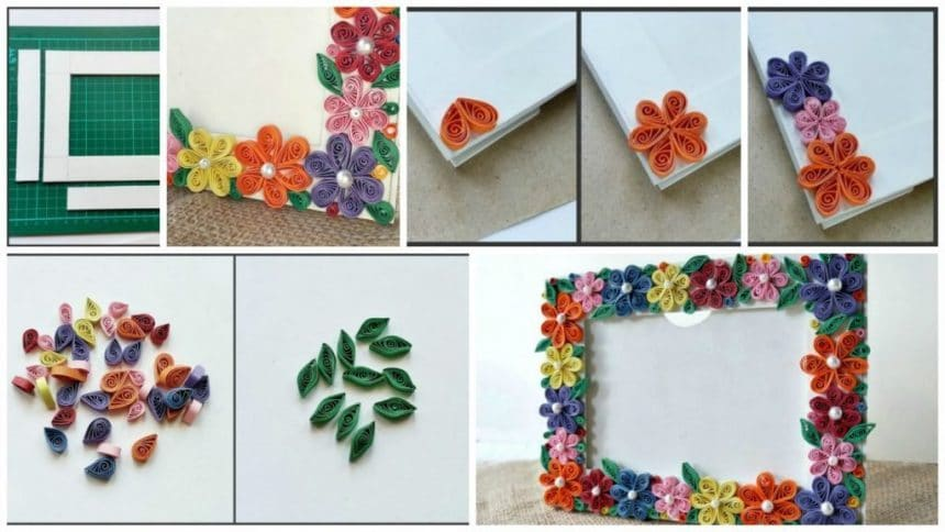 Paper quilled photo frame