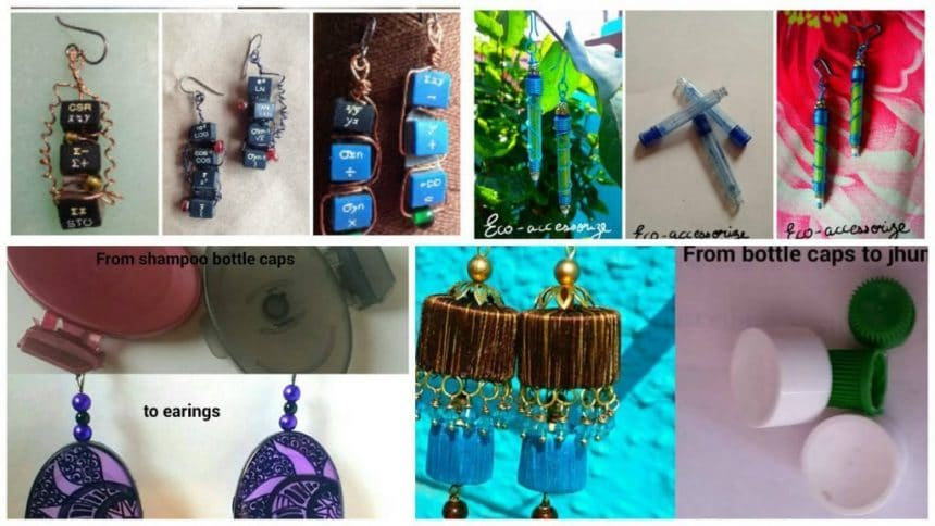 How to creative earring making from waste materiel