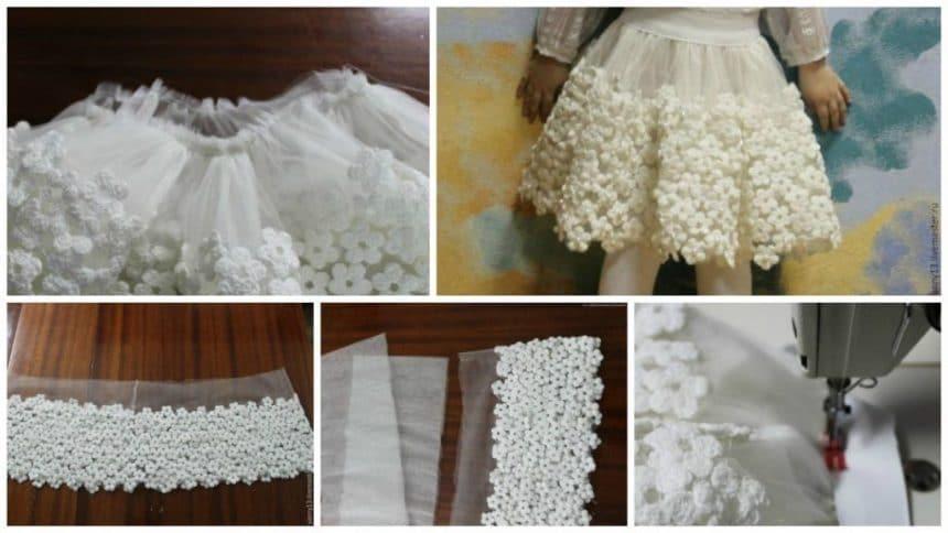 How to make girls beautiful skirt
