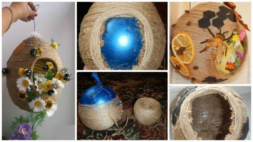 How to make beehive using twine