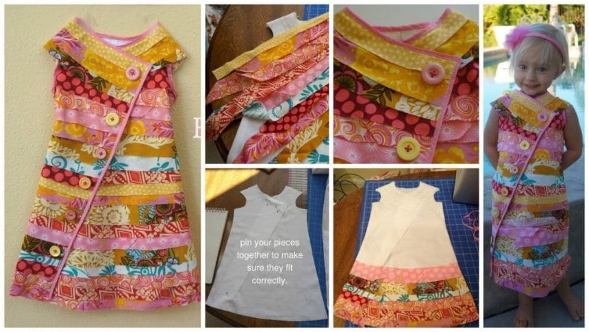 Bias Buttons creative Dress Tutorial