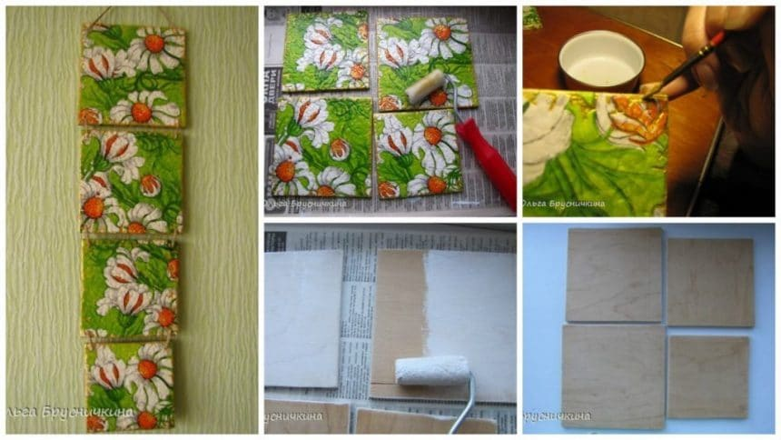 How to make decoupage egg shell panel