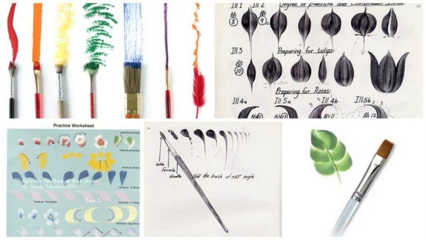 How to use paint brushes in different ways