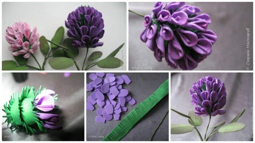 How to make flowers of clover