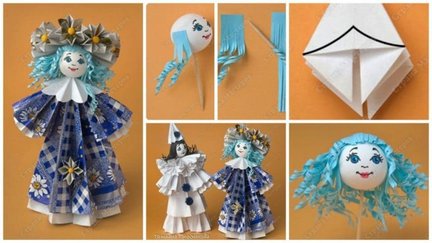 How to make flower doll from paper