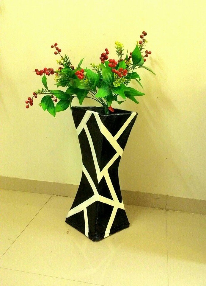 How To Make Cardboard Vase With Easy Steps Simple Craft Ideas