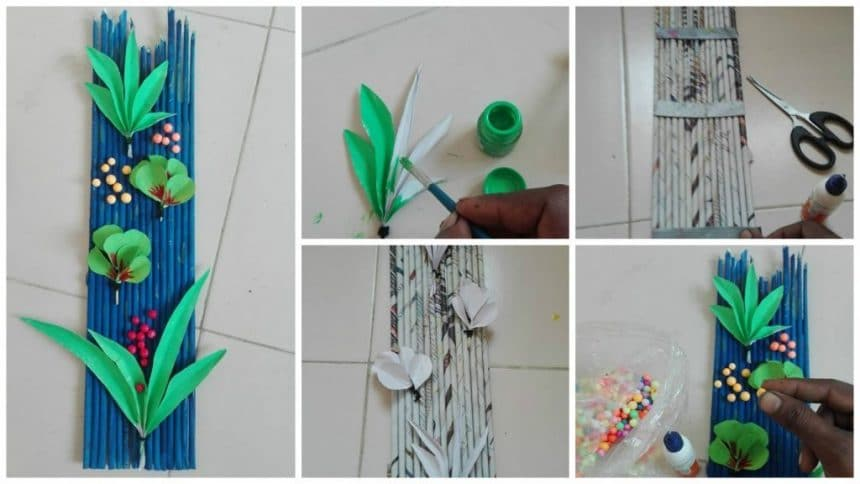 How to make newspaper wall art