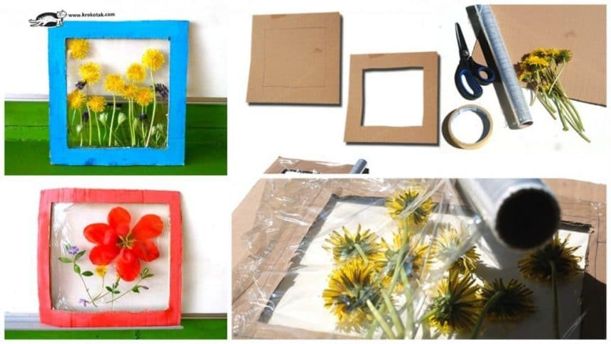 How to make flower panels