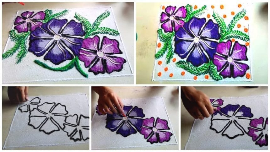 How to make beautiful rangoli designs