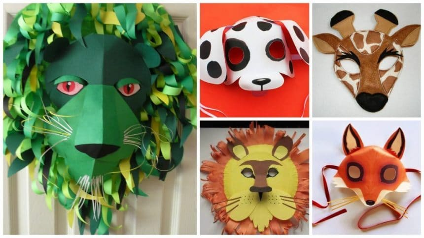 How to make animal mask for kids- Simple Craft Ideas – Simple Craft ...