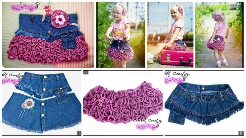 How to make simple denim skirts
