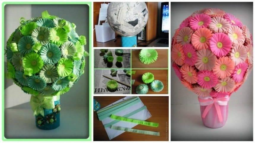 How to make little flower balls