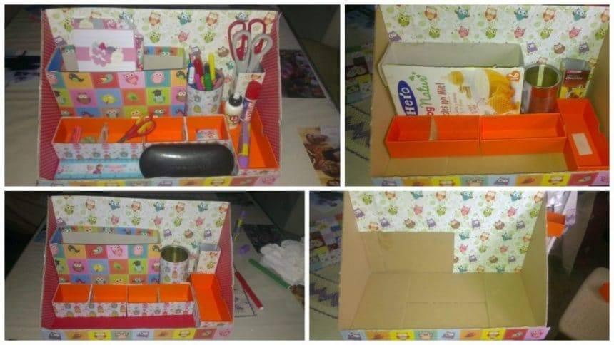 How to create desktop organizer- Simple Craft Ideas