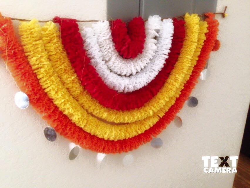Crepe Paper Garlands Using For Decoration Simple Craft Ideas