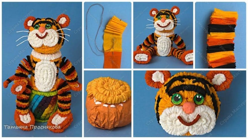 How to make tiger from paper