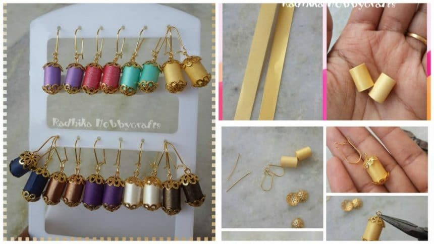 How to make roll earring craft at home