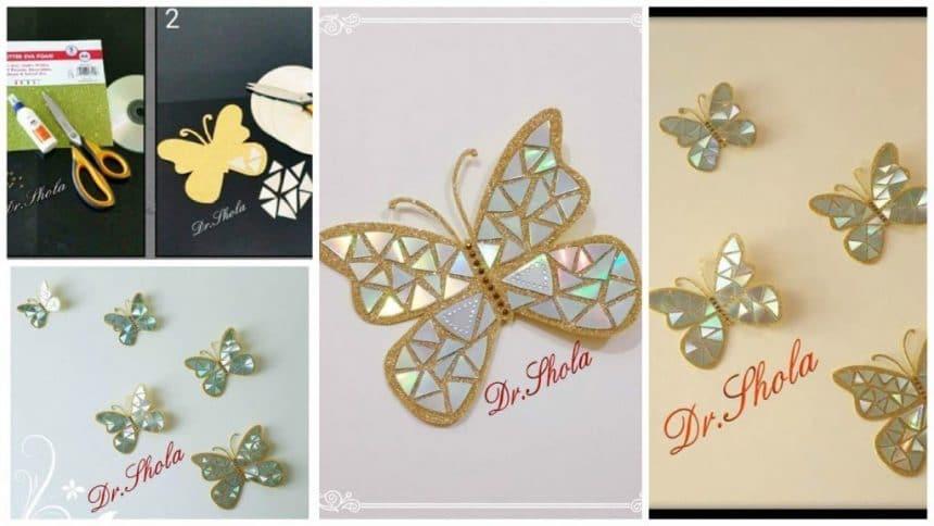 How to make beautiful CD butterflies