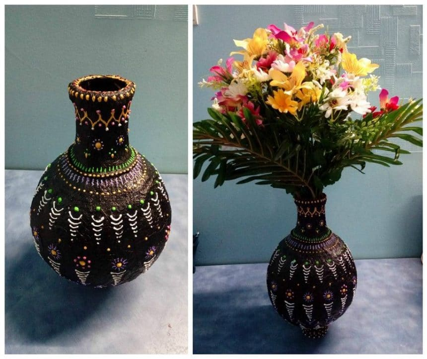 How To Make A Handmade Flower Vase Simple Craft Ideas