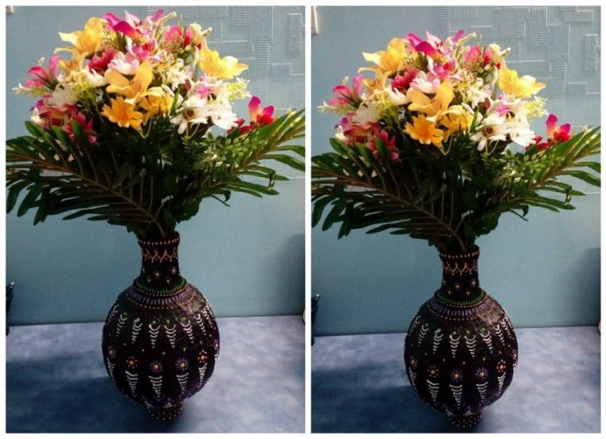 How To Make A Handmade Flower Vase Simple Craft Ideas Simple