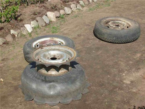 old tire usage