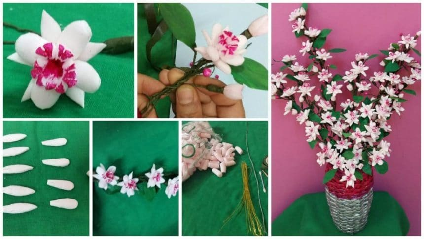 How to make thermocol flower