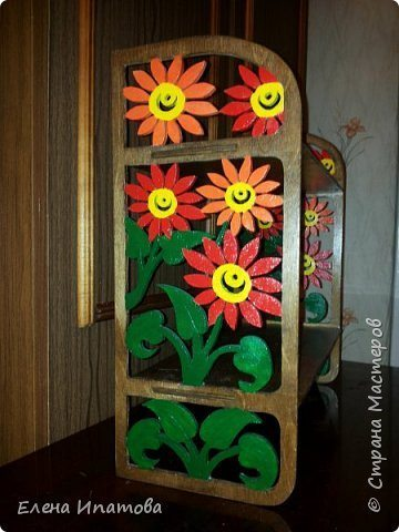DIY flower shelf
