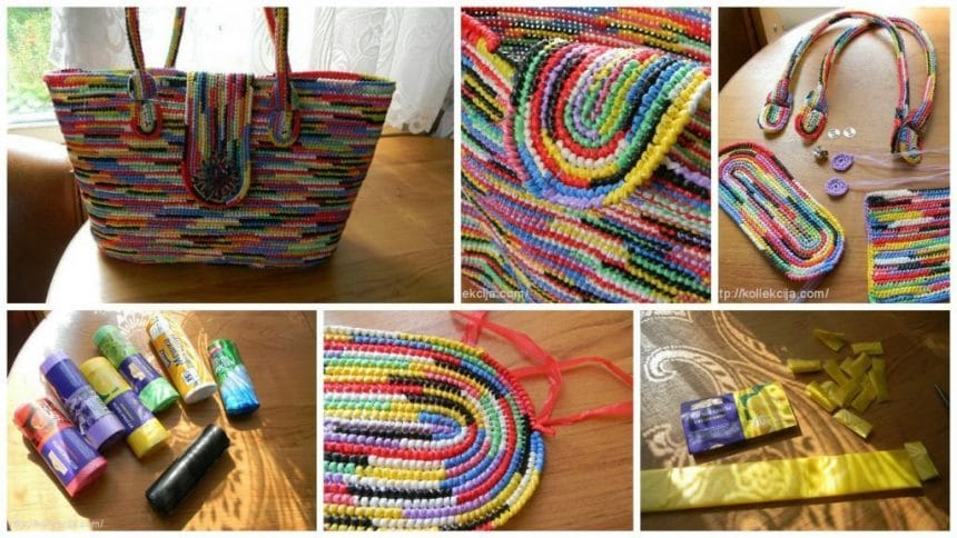 How to make trendy handbag from plastic cover