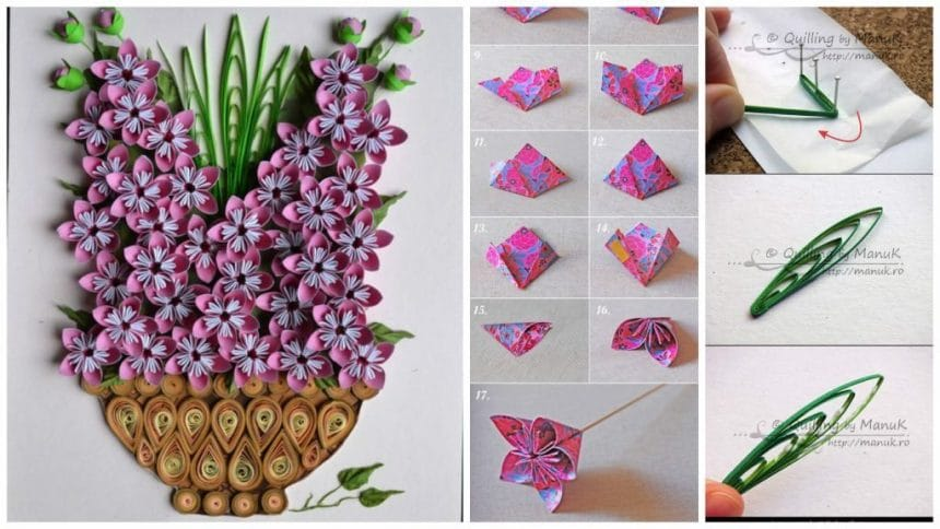 How to make origami kusudama flowers