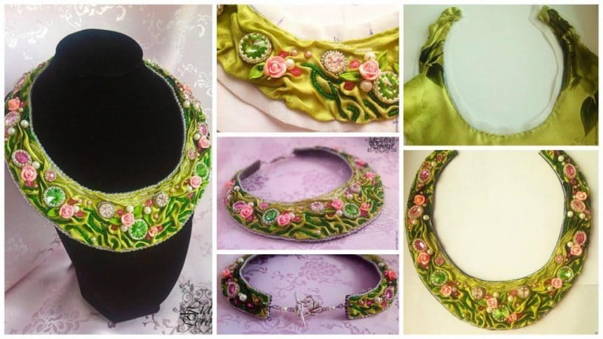 How to make chic necklace from cloth
