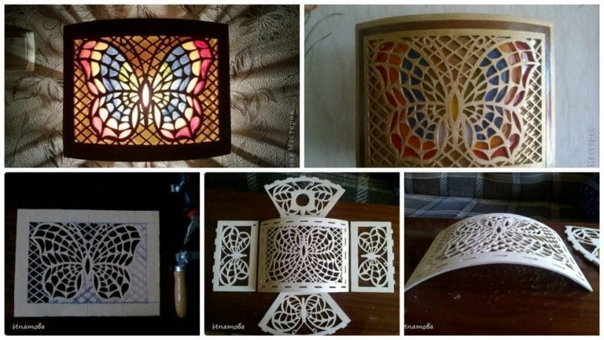 How to make butterfly lamp for your home