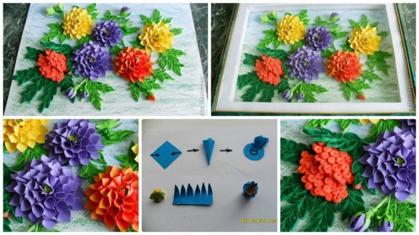 How to make easy paper dahlias