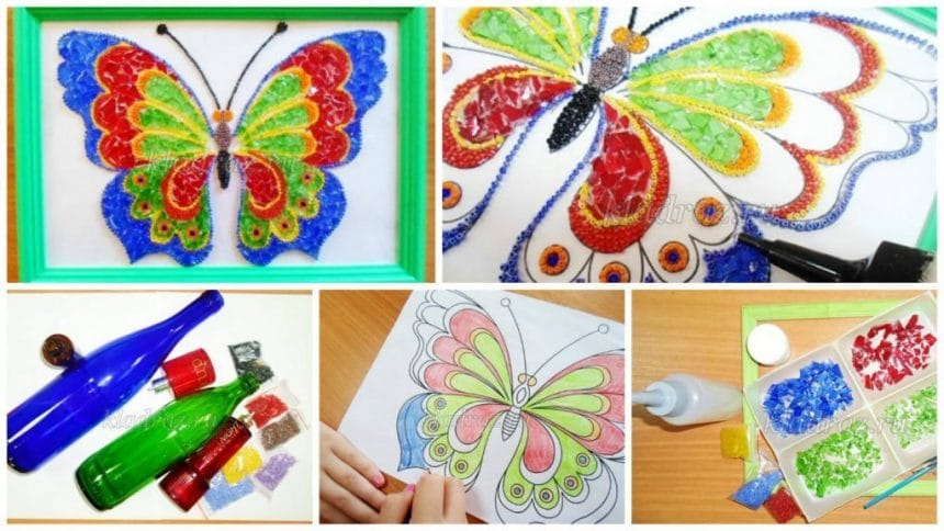 How to make mosaic butterfly
